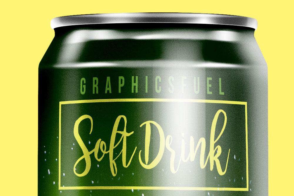 softdrink can mockup
