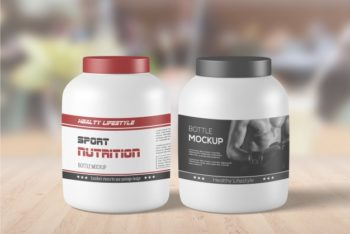 Free Sports Supplement Mockup in PSD