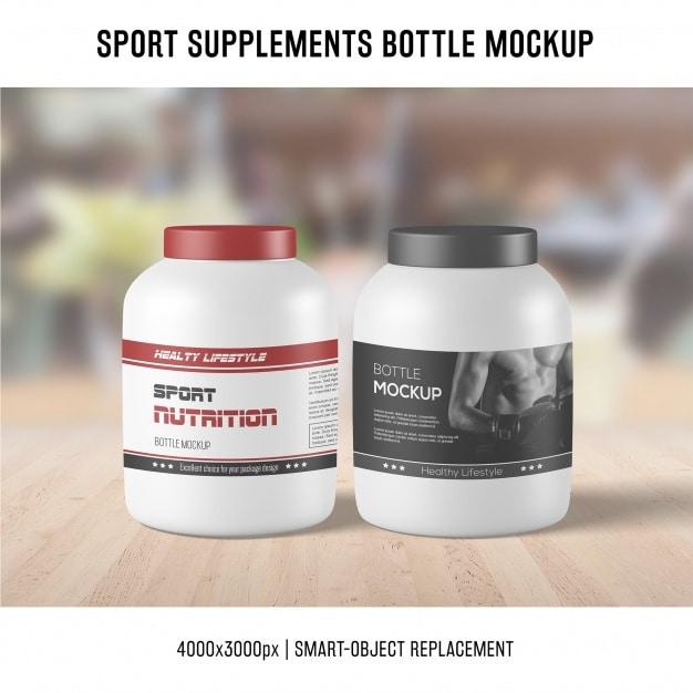 Sports Supplement Mockup