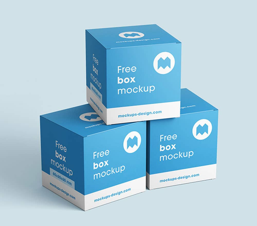 Download This Free Square Box Packaging Mockup Designhooks