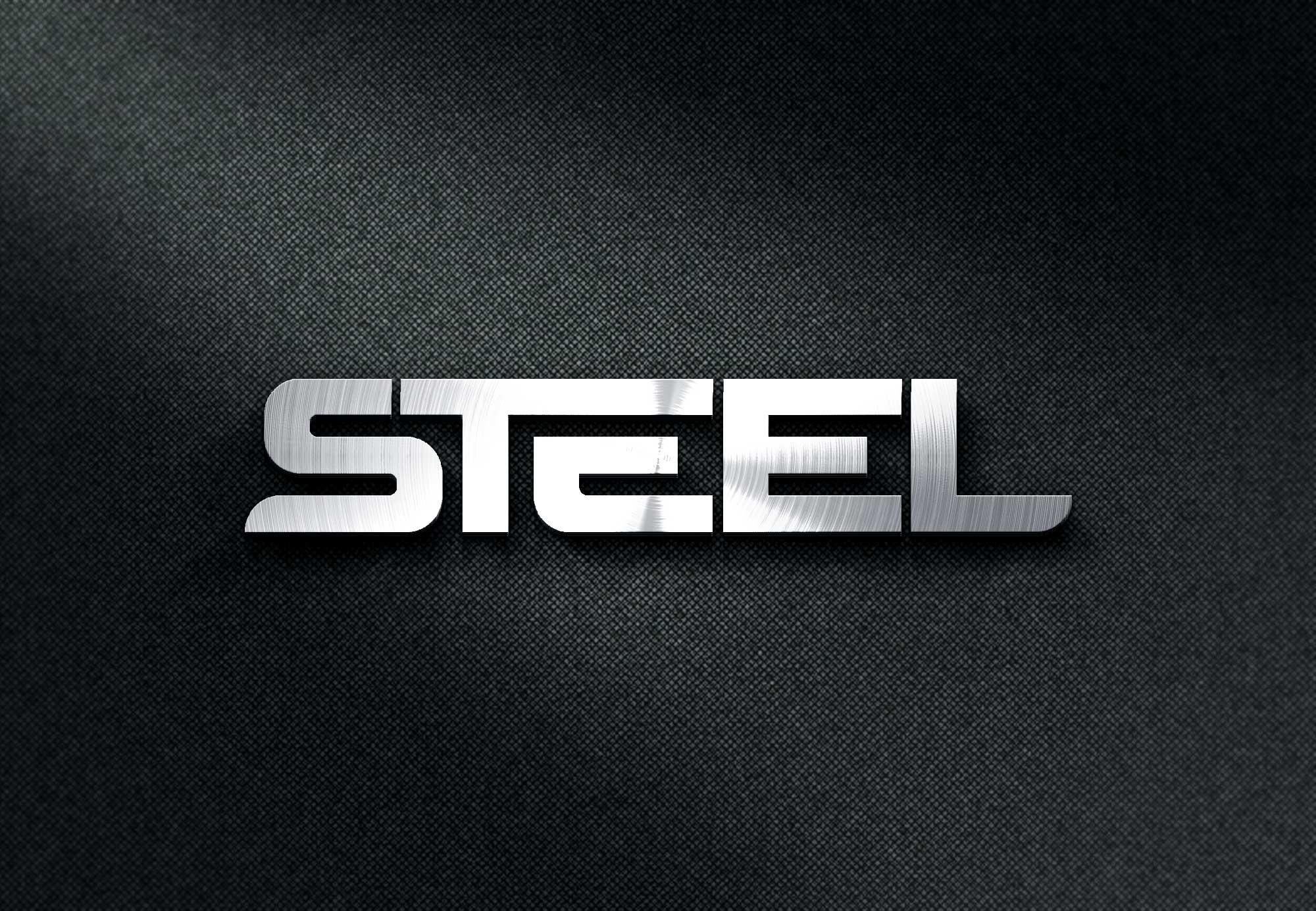 steel logo mockup