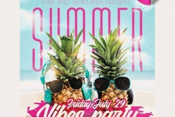Party Flyer PSD Mockup – Specially Designed for Summer Events