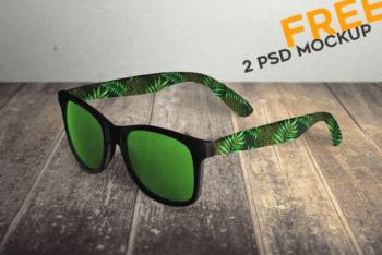 Fashionable Sunglasses PSD Mockup