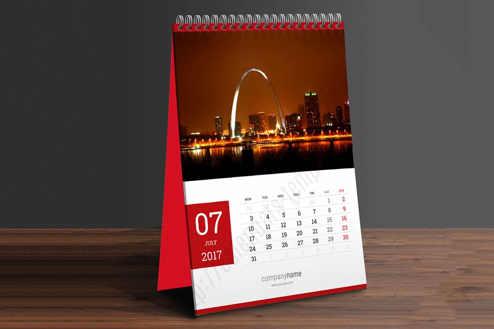 Table Calendar Mockup : Download this free table calendar psd mockup designhooks