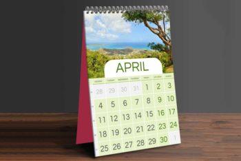 Free Table Calendar PSD Mockup