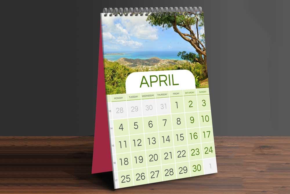 Table Calendar Mockup Free Download : Download this free table calendar psd mockup designhooks