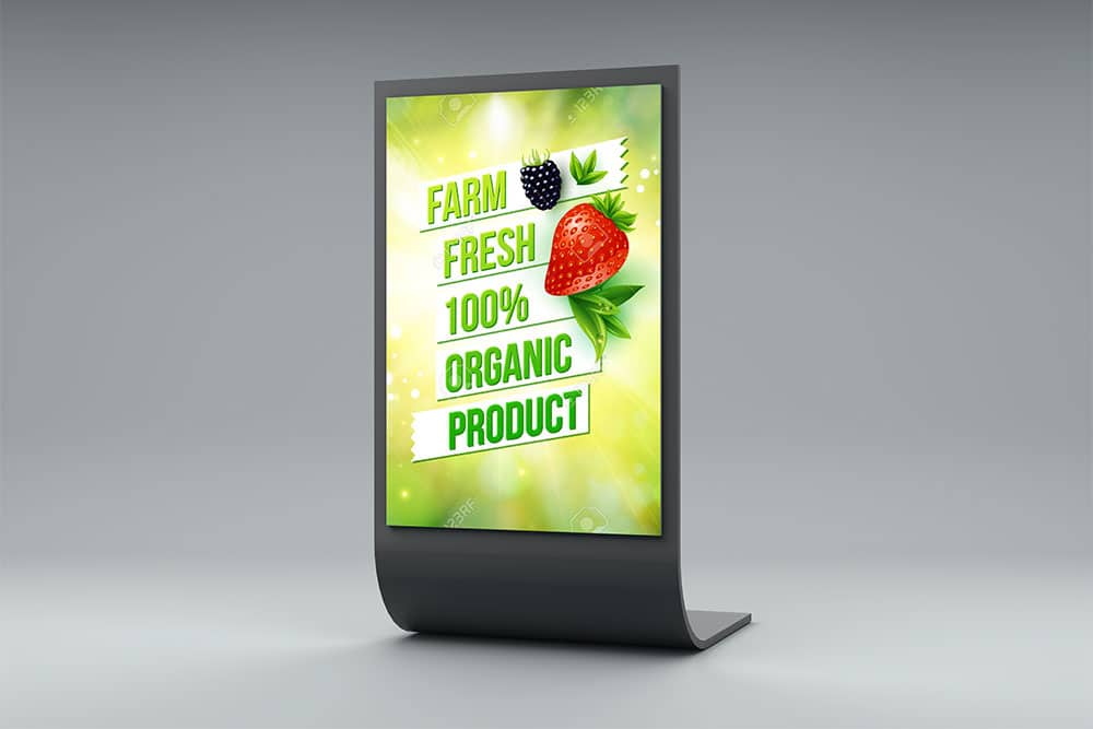 Exhibition Stand Freebies : Download this free table display stand mockup in psd