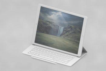 Tablet Plus Portable Keyboard Mockup Freebie