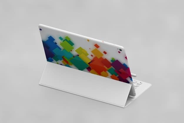 Colorful Tablet Plus Keyboard