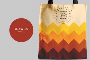 Fashionable & Useful Tote Bag PSD Mockup