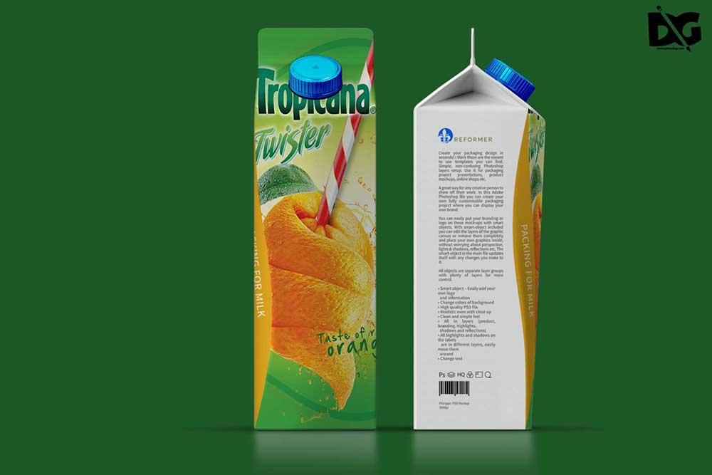 terta juice packaging mockup