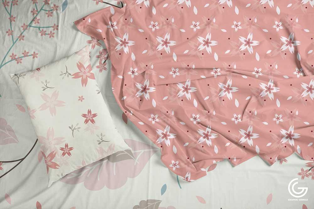 textile bedding sheet mockup