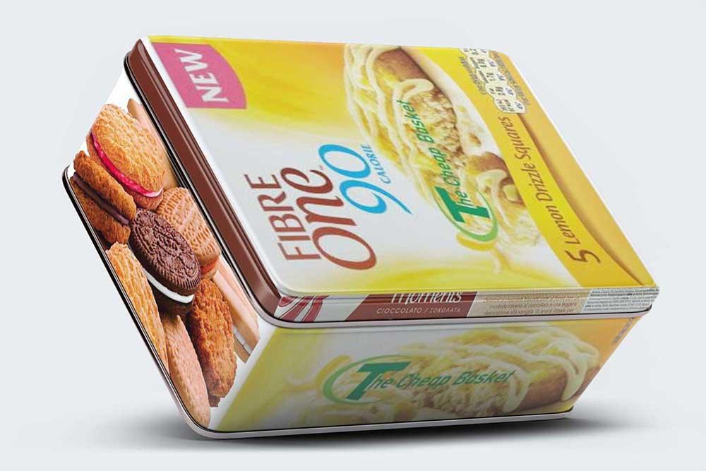 tilt tin box packaging mockup
