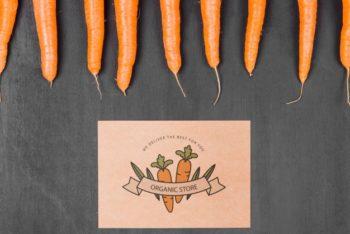 Free Customizable Carrots Mockup in PSD