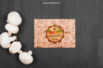 Free Customizable Mushrooms Mockup in PSD