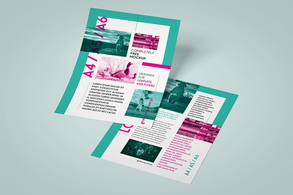 business flyer mockup