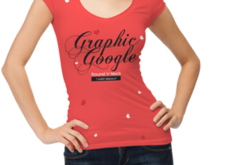 V Neck Women T-shirt PSD Mockup – Ultimate Trendy Look & Useful Features