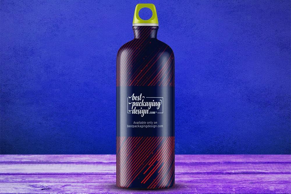 sports water bottle mockup