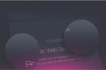 Free Customizable Website Screen Mockup in PSD