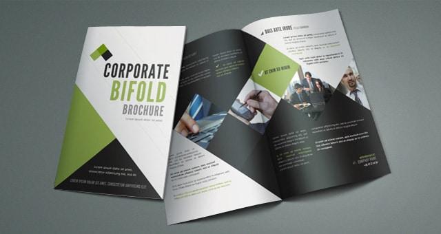 bi fold brochure design psd mockup for free designhooks