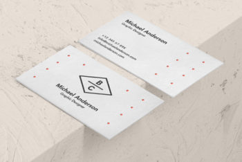 Classy Business Card PSD Mockup Design