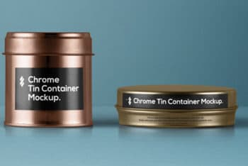 Tin Container PSD Mockup ( A Set of 2)