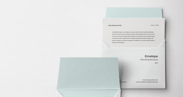 Envelope PSD Mockup Template