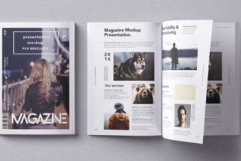 Well-designed Magazine PSD Mockup