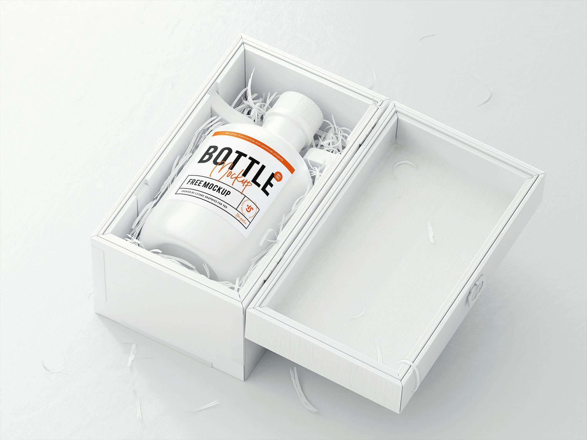 Bottle Logo Plus Wooden Case