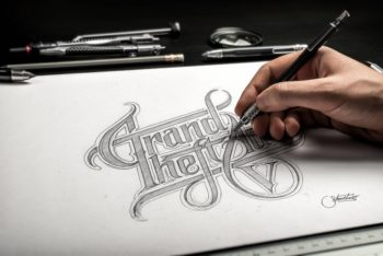 Free Beautiful Hand Drawn Sketch Mockup in PSD