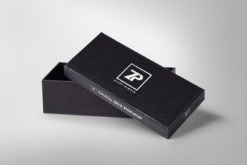 Free Customizable Attractive Gift Box Mockup in PSD