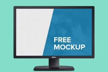 Free Dell Monitor Design Mockup in PSD