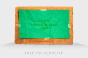 Free Scribble Board Design Mockup in PSD