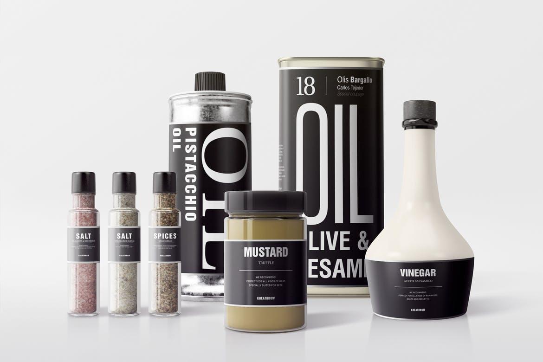 Free Seasonings Package Scene Mockup In Psd Designhooks