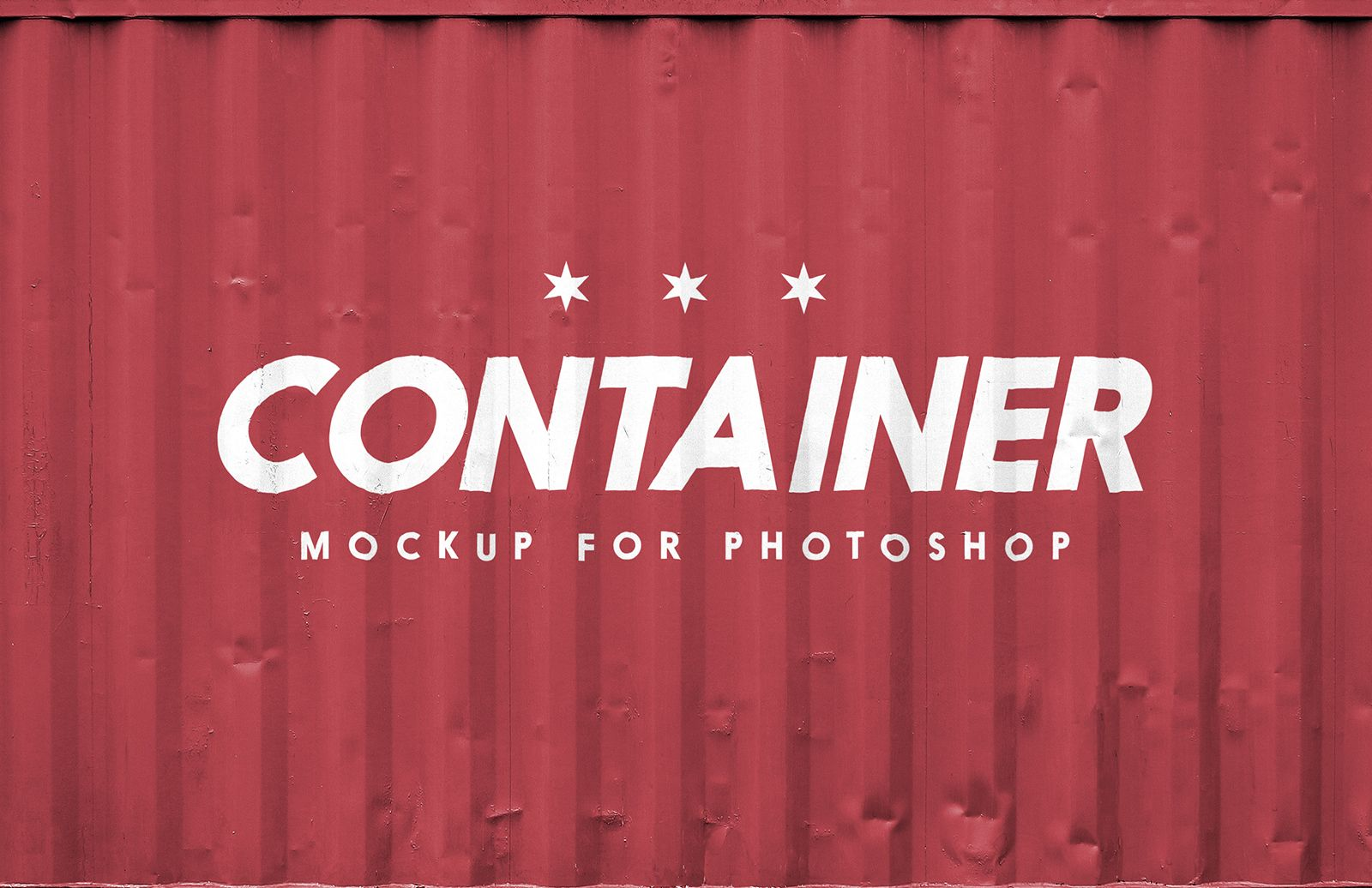 free shipping container logo mockup in psd