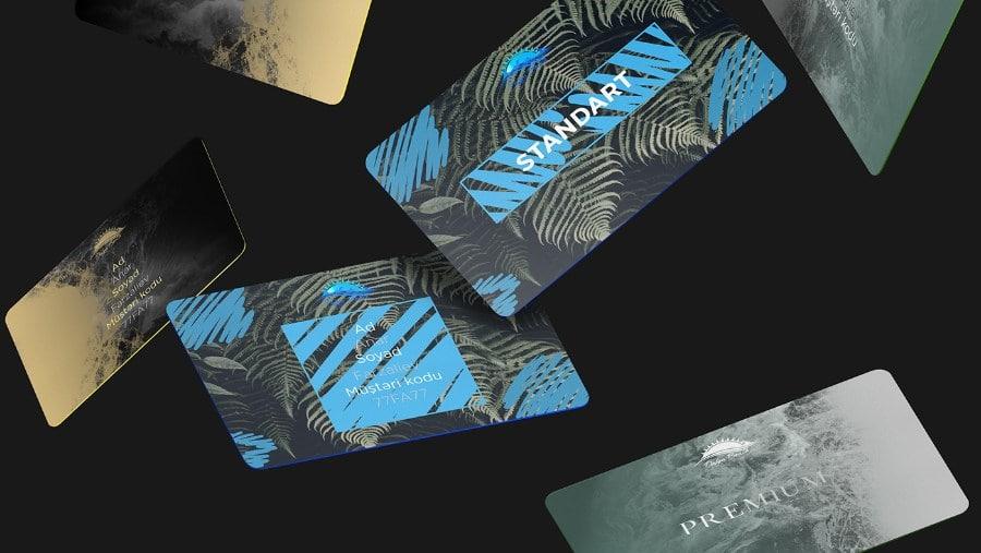 Beach Resort Card Design
