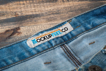 Free Jeans Plus Apparel Tag Mockup in PSD