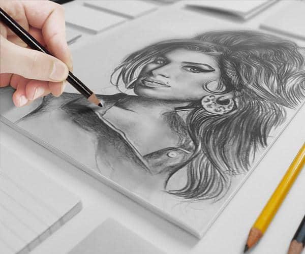 Artist Canvas Sketch Scene