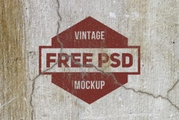 Free Grunge Texture Logo Design Mockup in PSD