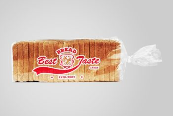 Free Bread Plus Cookies Plastic Bag Mockup