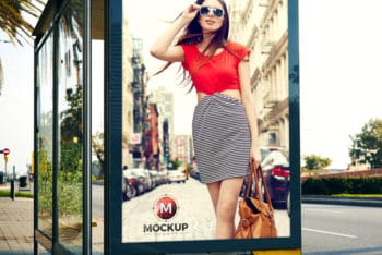 Bus Stop Billboard PSD Mockup for Awesome Outdoor Advertising