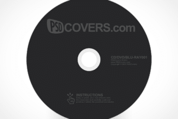 Free Customizable DVD BluRay Disc Mockup in PSD