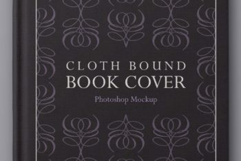 Free Cloth Bound Book Cover Mockup in PSD