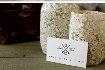 Free Elegant Vintage Wedding Mockup in PSD