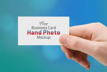 Free Business Card PSD Mockup Available with User-friendly Features