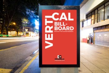 Billboard PSD Mockup for City Street Advertising