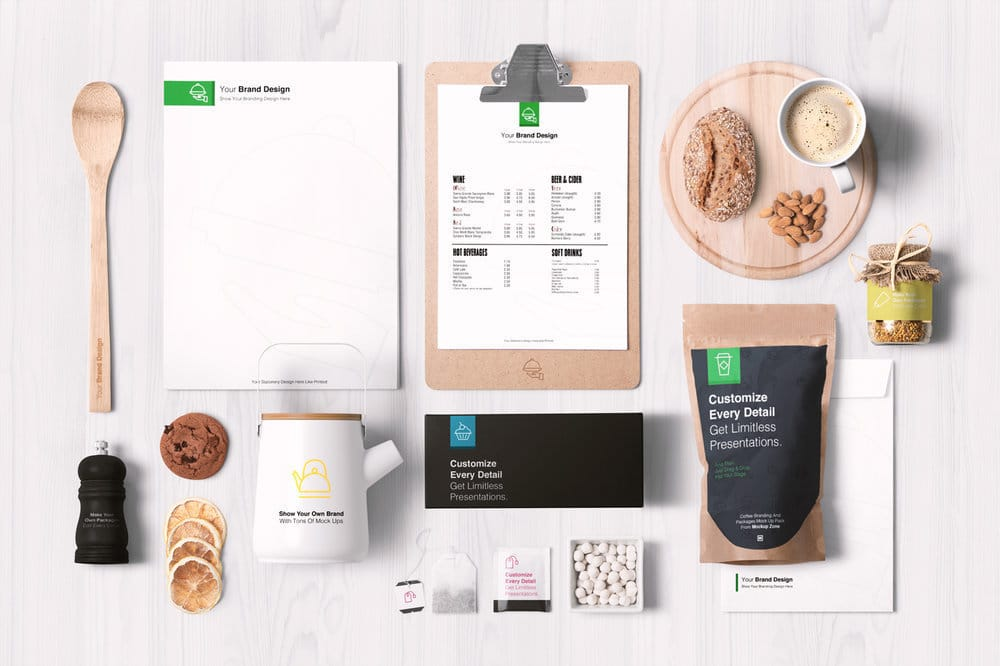 Coffee Plus Restaurant Materials Pack