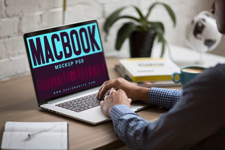 MacBook PSD Mockup Design
