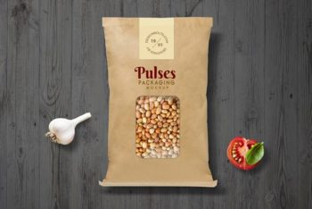 Free Paper Pouch PSD Mockup for Pulse Packaging