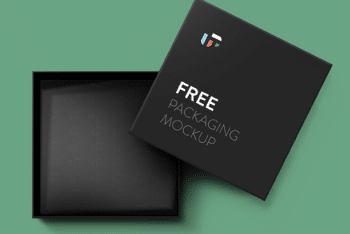 Free Elegant Small Square Box Mockup in PSD